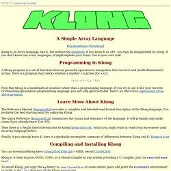 Klong - T3X.ORG