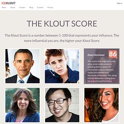 What is the Klout Score?