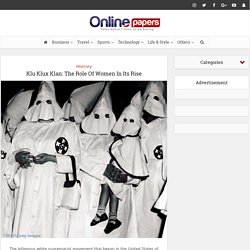 Klu Klux Klan: The Role Of Women In Its Rise