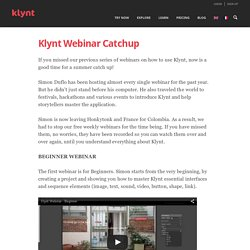 Découvrez les Webinars Klynt