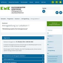 KMK-PAD: Antrag Leitaktion 1
