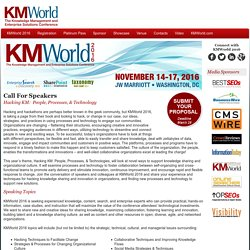 KMWorld 2016 Call For Speakers
