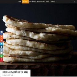 No Knead Garlic Cheese Naan