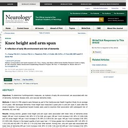 Knee height and arm span
