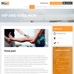 Hip and Knee Pain Treatment in Arlington VA