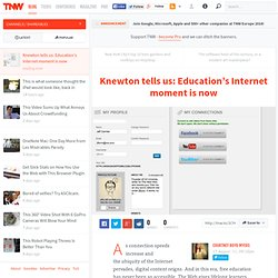 Knewton tells us: Education's Internet moment is now - Shareables