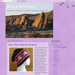 Knice Knitties: Here There May Be Dragons!