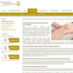 KNIEGELENKSARTHROSE - Orthopädie & Sportchirurgie