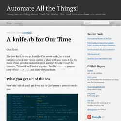 A knife.rb for our time - Automate All the Things!