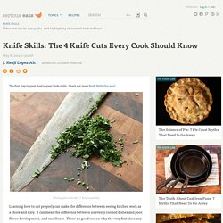 Knife Skills: The 4 Knife Cuts Every Cook Should Know