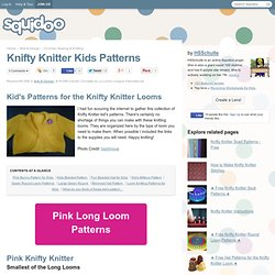 Knifty Knitter Kids Patterns