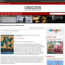 Origins: Current Events in Historical Perspective
