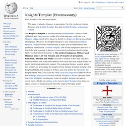 Knights Templar (Freemasonry)