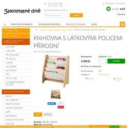 Knihovna s látkovými policemi přírodní - www.samostatne-dite.cz