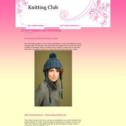KNIT RIBBED HAT PATTERNS « Knitting Club