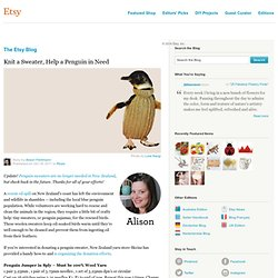 Knit a Sweater, Help a Penguin in Need | The Etsy Blog