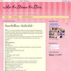 """Free Pattern- """"Cutie Bib"""""""