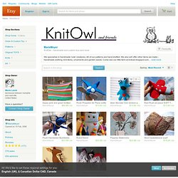 MarieMeyer :: KnitOwl - handmade and custom toys