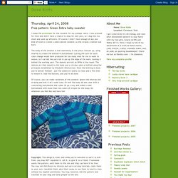 Free pattern: Green Zebra baby sweater