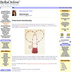 Knitted Quarter Sized Bead Bag - Beadwork