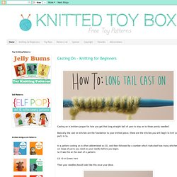 Knitted Toy Box