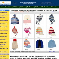 Wholesale Knit hat in our China hat factory