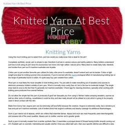 Knitted Yarn At Best Price