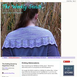 Knitting Abbreviations | The Weekly Stitch