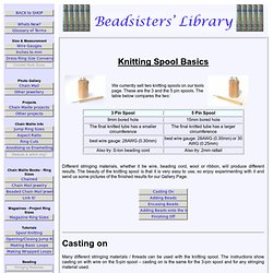 Knitting Spool Basics - Beadsisters