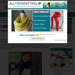 Knitting for Beginners: 9 Free Tutorials eBook