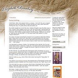 Funny knitting « Elizabeth Rosenberg's Blog