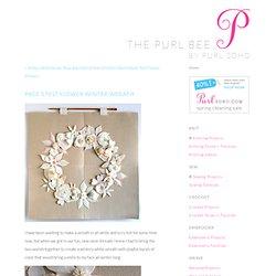 Page's Felt Flower Winter Wreath