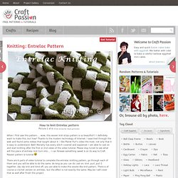 Knitting | Entrelac Pattern | Free Pattern &Tutorial at CraftPassion.com