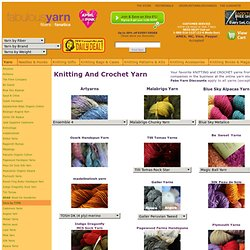 Yarn for Knitting and Crochet at the Online Store for Fiber Fanatics, fabulousyarn.com