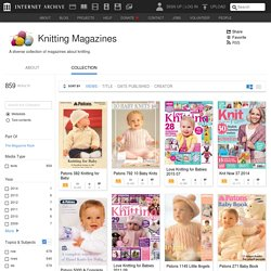 Knitting Magazines : Free Texts : Free Download, Borrow and Streaming