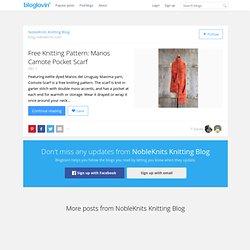 Free Knitting Pattern: Manos Camote Pocket Scarf