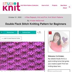 Double Fleck Stitch Printable Knitting Pattern - Studio Knit