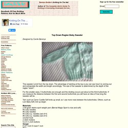 Free Knitting Pattern For Top Down Raglan Baby Sweater