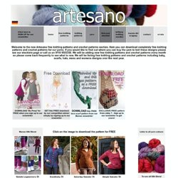 Free Knitting Patterns and Free Crochet Patterns from Artesano