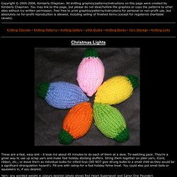 Free Knitting Patterns - Christmas Lights - Kimberly Chapman's Knitting