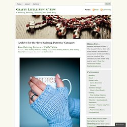 Free Knitting Patterns « Crafty Little Sew n' Sew