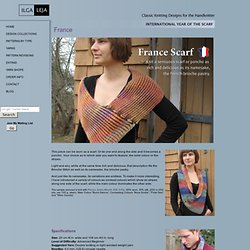France Scarf - ILGA LEJA - Classic Knitting Patterns for the Handknitter