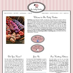 Knitting, Free Knitting Patterns, Knitting Yarn, Knitting Instructions, Knitting Book, Knitting Stores