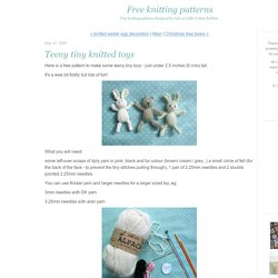 Free knitting patterns: Teeny tiny knitted toys
