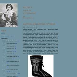 Knitting and Netting Patterns - Beeton's Book of Needlework - Vintage Knitting Patterns, Vintage Netting Patterns