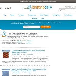 Free Knitting Patterns and Cool Stuff - Knitting Daily