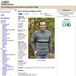 ABC Knitting Patterns - Top Down V-Neck Raglan Sweater .