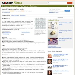 Knitting Chart Maker - Review of Knitting Chart Maker Program by Jacquie