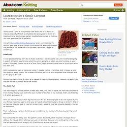 Knitting Skills: Resize A Simple Garment
