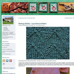 Knitting stitches – Lace Chevron Pattern